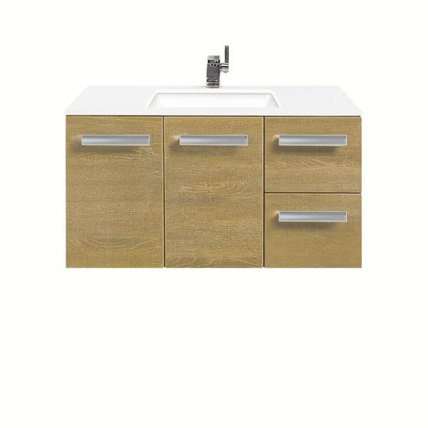 Linea 900 wallhung light oak vanity with whitestone top vanities find a store mozeypictures Gallery