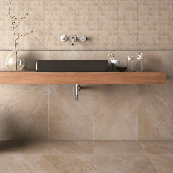 Elegant Beige bathroom tiles