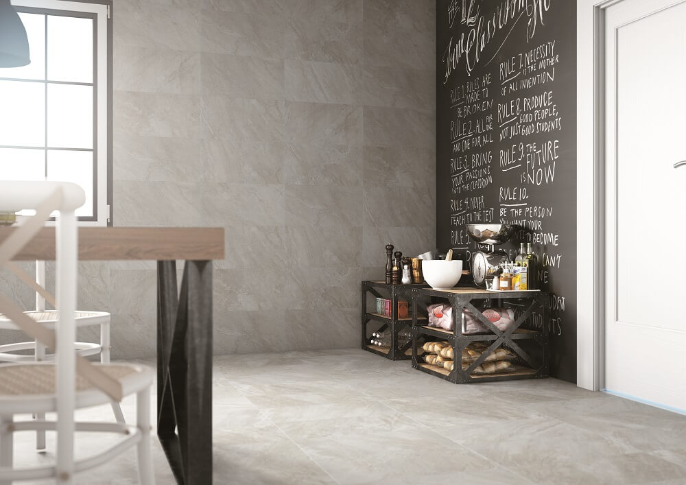 Elegant Gray kitchen tiles