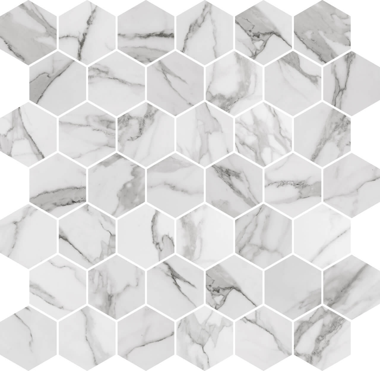 hexagon tiles marble