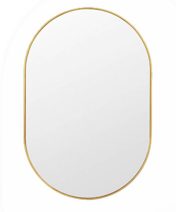 Oval Mirror Brushed Gold Pvd 900mm Mirrors Forme Bathroom Collection