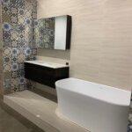 Madrid 1200 vanity in Dark chocolate, Blancstone top & under counter basin